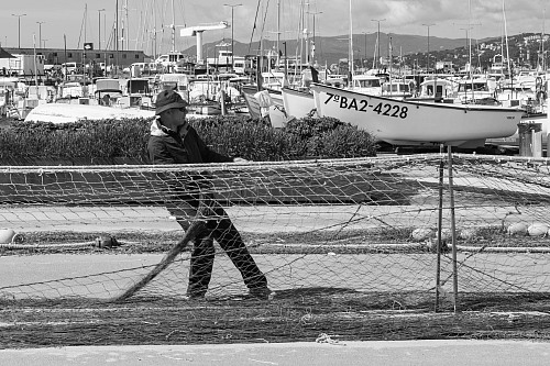 Palamos Drying nets Cultural heritage / fishing traditions / fishing communities J. van der Laan